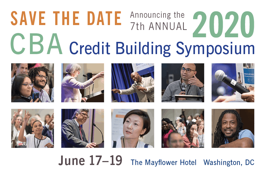 Save the Date 2020 Credit Building Symposium
